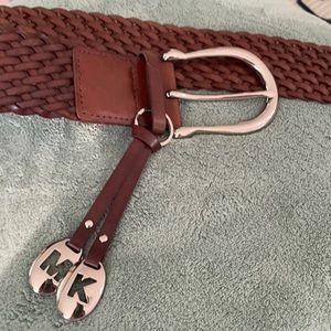 Michael Kors brown woven belt